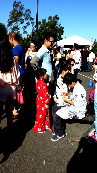 Child in a kimono at the Japanese Festival Melbourne 2015