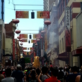 Chinatown, Little Bourke St, Lunar New Year 2015