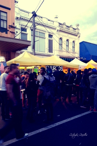 Multiculttural Crowd at the Johnston Street Fiesta 2013