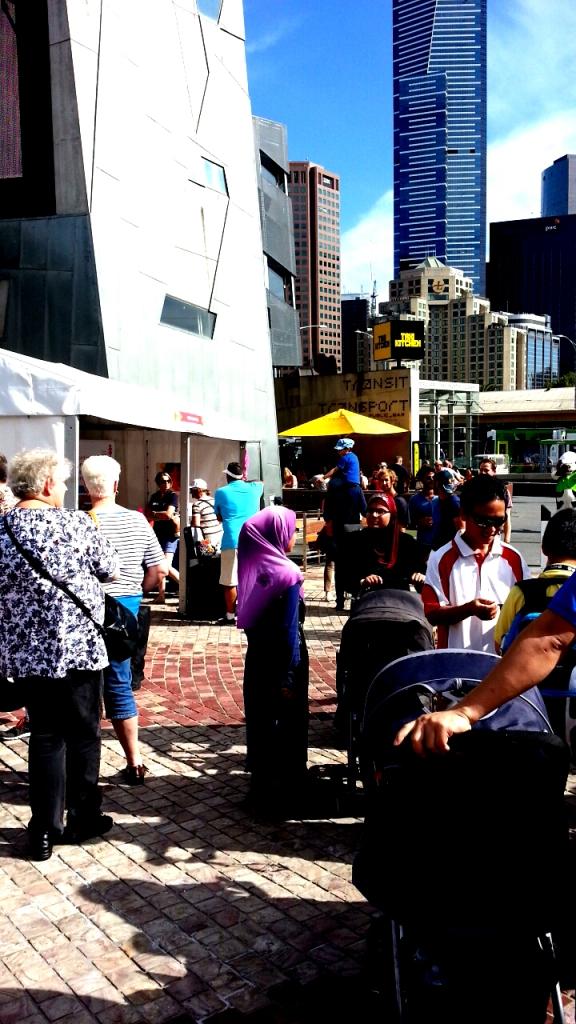 Multicultural crowd at the Viva Victoria Festival