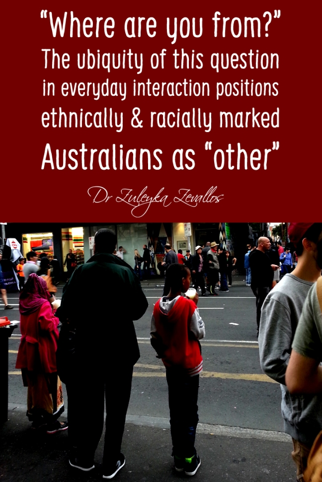 Where are you from? Everyday racism