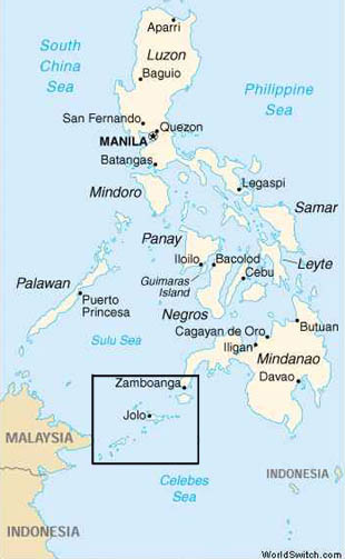 Map of Jolo, in the Southern Philippines.Map of Jolo, in the Southern Philippines.