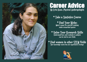 Erin Kane's Career Advice for Women Social Scientists. Via STEM Women