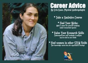 Erin Kane's Career Advice for Women Social Scientists. Via STEM Women