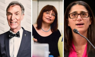 Bill Nye, Dr Lydia Villa-Komoroff, and Dr Mona Hanna-Attisha